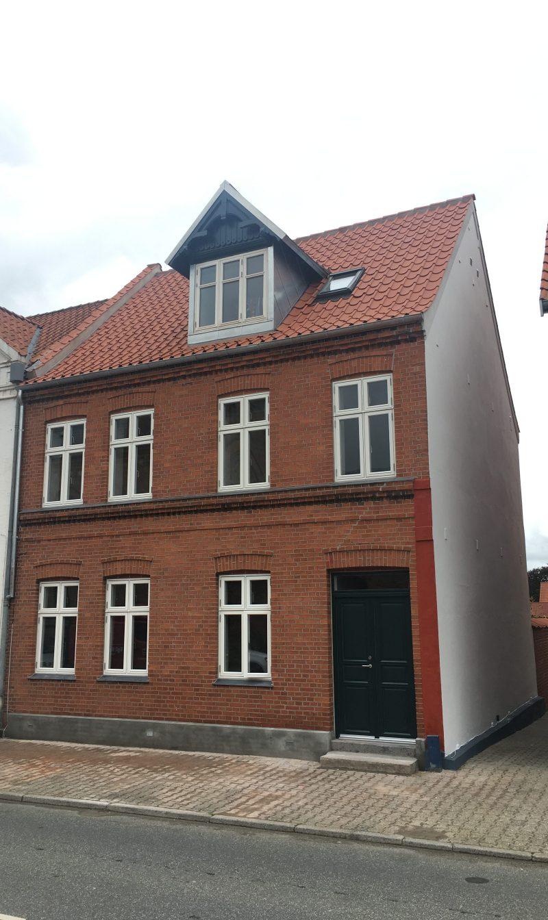 Færdigrenoveret byhus i Fredericia